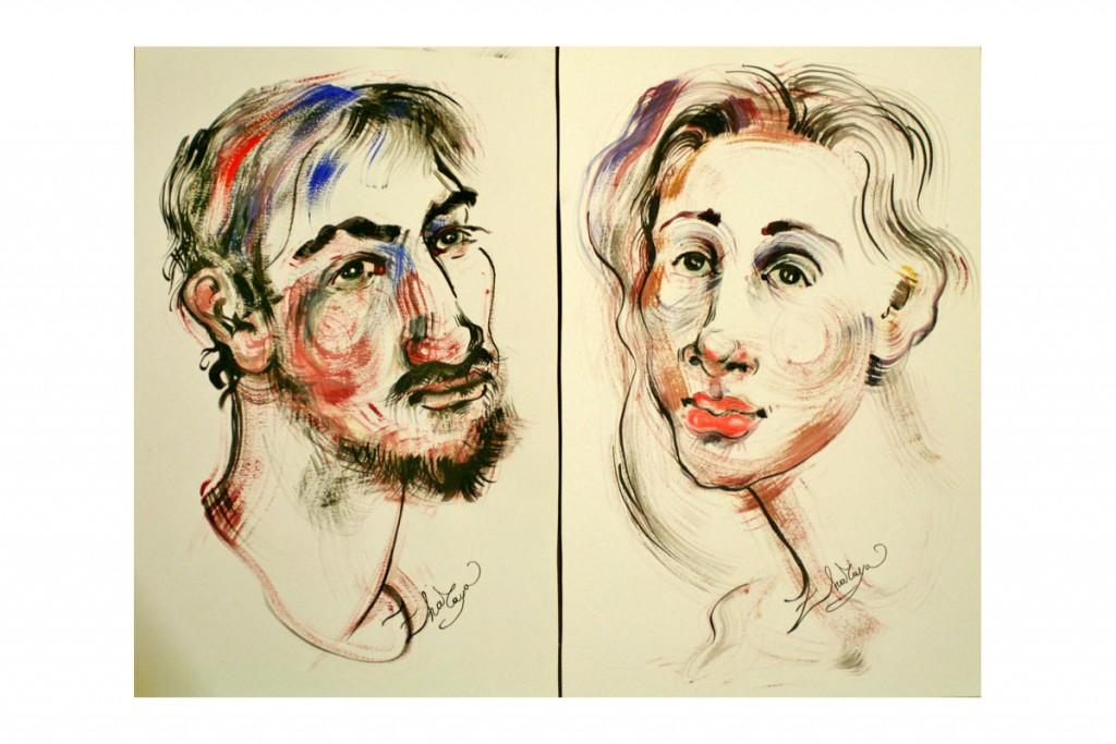 portraits_ZHARAYA_technique-mixte