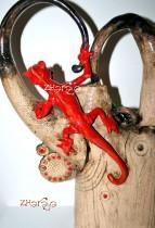 Description: Arbre psychedelique et dragon rouge / Psychedelic tree and red dragon Auteur: Eugeniya Zharaya