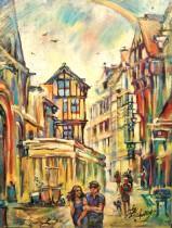 Description: Eclat-du-jour-Rue-Saint-Romain-Rouen_1 Auteur: Eugéniya Zharaya