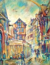 Description: Eclat-du-jour-Rue-Saint-Romain-Rouen_2 Auteur: Eugeniya Zharaya