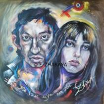Description: Je suis venu te dire_Serge Gainsbourg & Jane Birkin Auteur: Zharaya Eugeniya