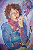 Description: Evelyne Weisang, Femme pensive cheveux roux Auteur: Eugeniya-ZHARAYA