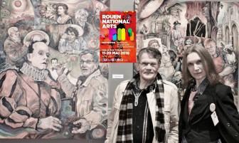 Description: Biennale ROUEN NATIONAL ARTS-2016 à La Halle aux Toile avec Claude Troxler Auteur: