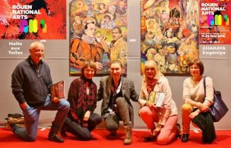 Description: Sur le tapis rouge de la Biennale ROUEN NATIONAL ARTS - 2016 Auteur: