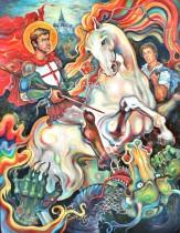 Description: Saint Georges - Vainqueur du Dragon / Saint Georges - Winner of the Dragon Auteur: Eugéniya ZHARAYA
