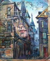 Description: Songe de la rue Saint Romain Rouen / Dream of the street St Romain Rouen Auteur: Zharaya Eugéniya